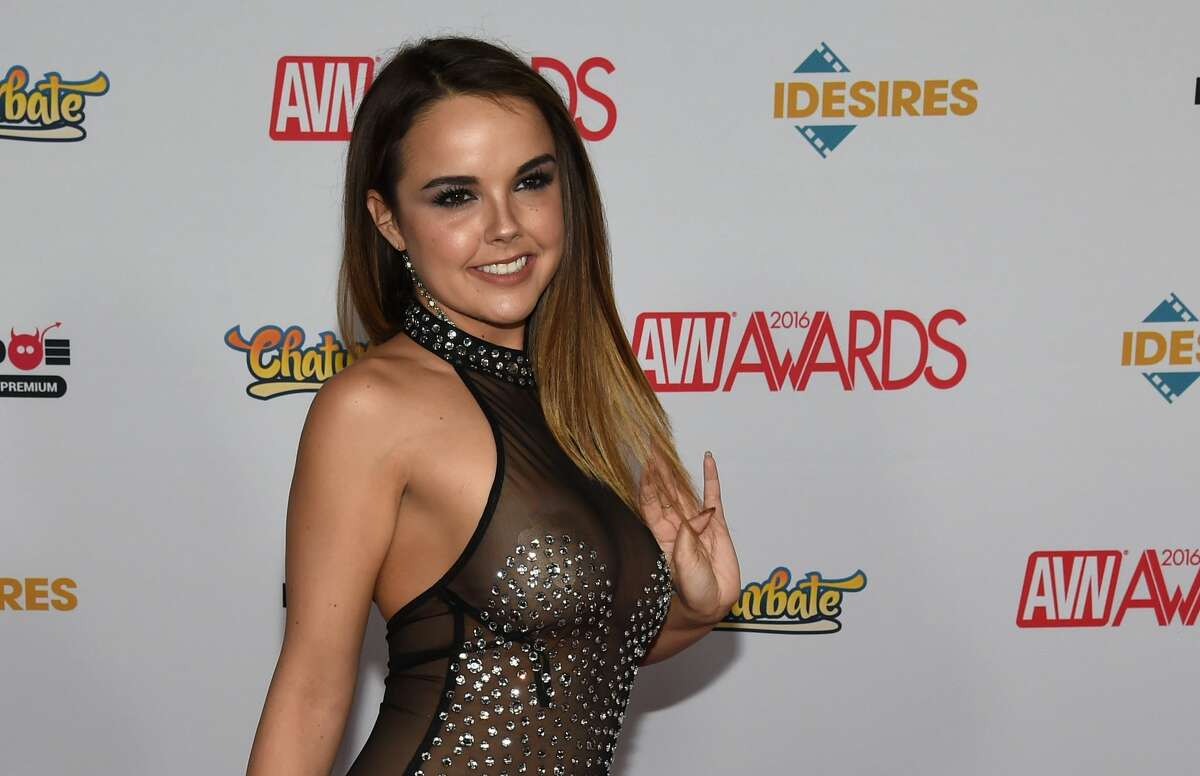 Inaugural TEXXXAS fan event set for Houston next month  Adult film actress Dillion Harper, seen here the 2016 Adult Video News Awards, is one of the featured porn stars set to appear at the adult-oriented TEXXXAS fan event in Houston next month.