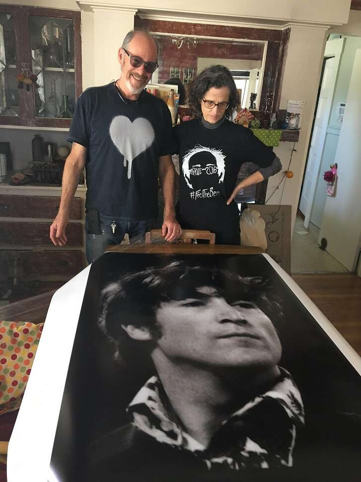 Bay Area musician Dave Seabury and his wife, Ruth Kaiser, will exhibit never-published images of the Beatles from the band's 1966 Candlestick Park concert, like this picture of John Lennon, on the 50th anniversary of that performance.