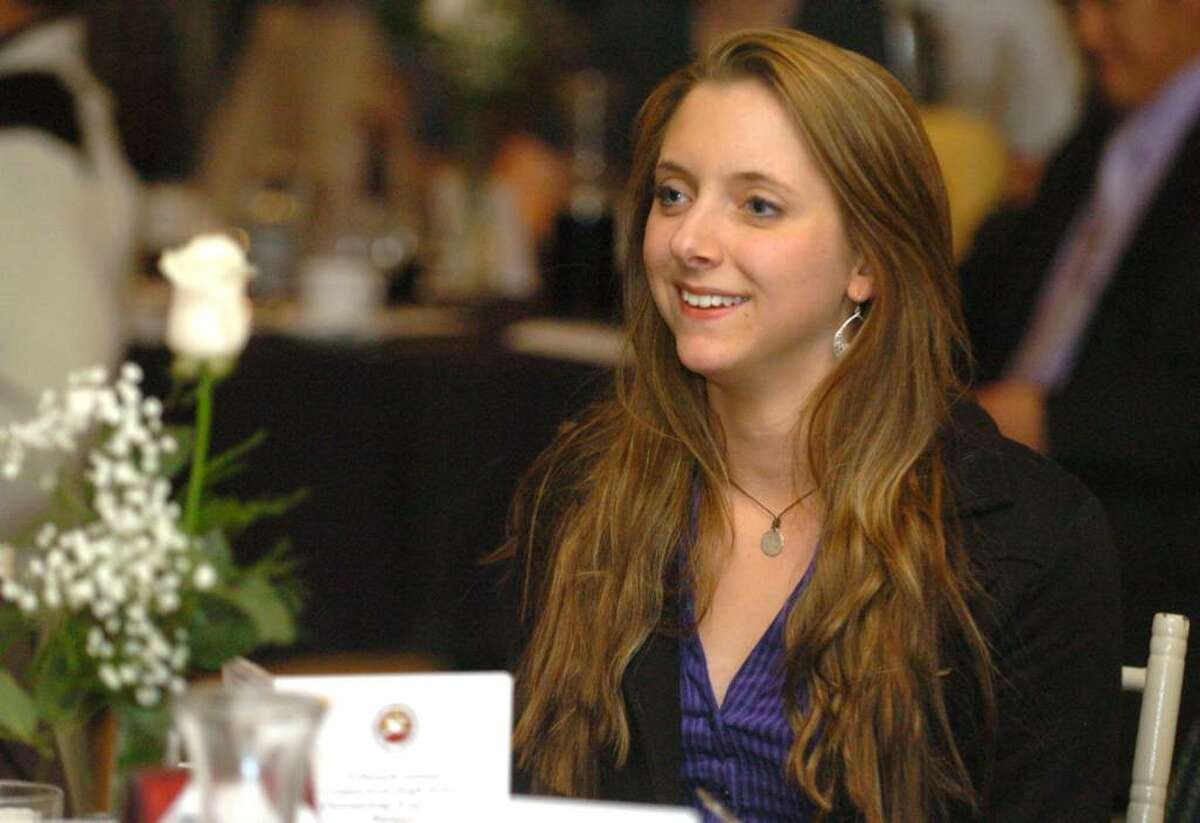 Jenna Conant, 17, of Brookfield High School, attends the 15th annual arts recognition banquet at the Aqua Turf in Southington on Tuesday April 27, 2010.