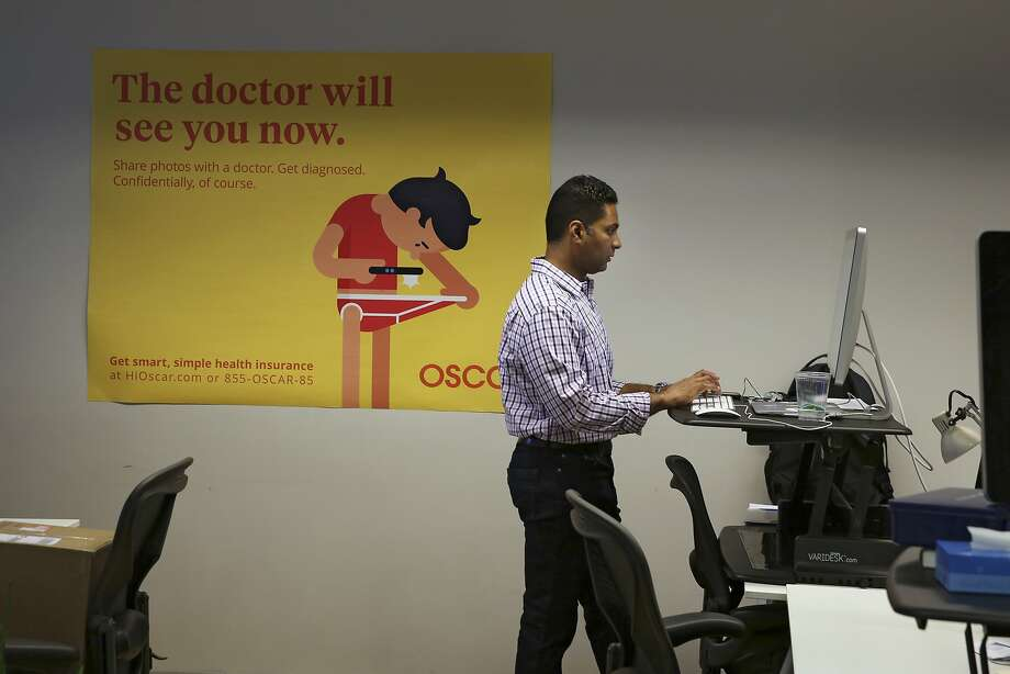 Mihir Patel, the pharmacy benefits manager for Oscar Health, at the startup health insurer's offices in New York, May 23, 2016. Companies like Oscar were initially attracted by the potential of millions of new customers added to the individual market by the Affordable Car Act, but the reality has been far messier. (Richard Perry/The New York Times) Photo: RICHARD PERRY, NYT