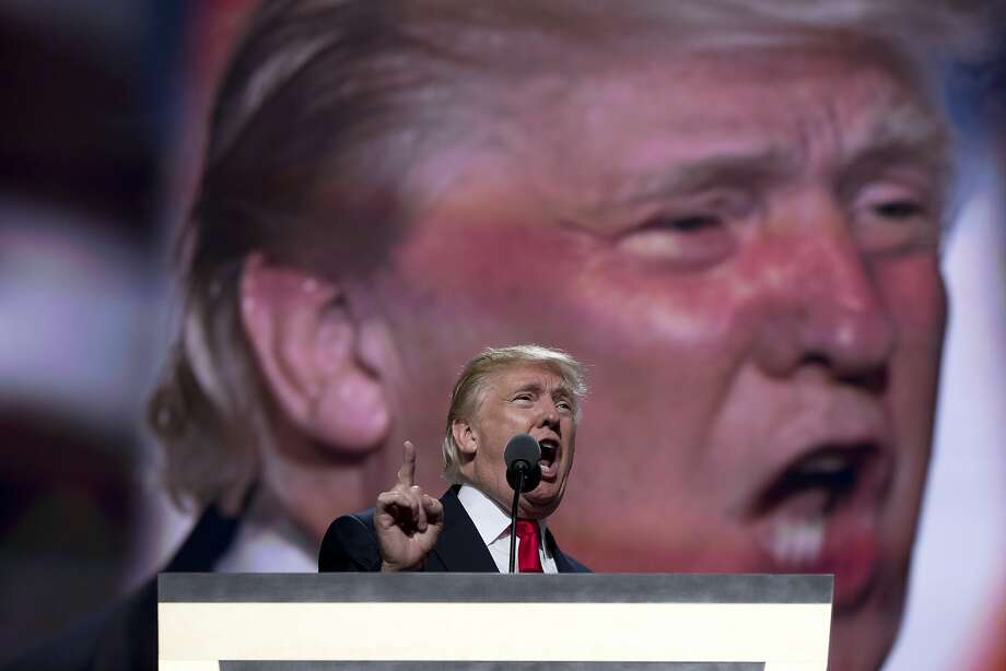 Republican Presidential Candidate Donald Trump speaks during the final day of the Republican National Convention in Cleveland, Thursday, July 21, 2016. (AP Photo/Carolyn Kaster) Photo: Carolyn Kaster, Associated Press