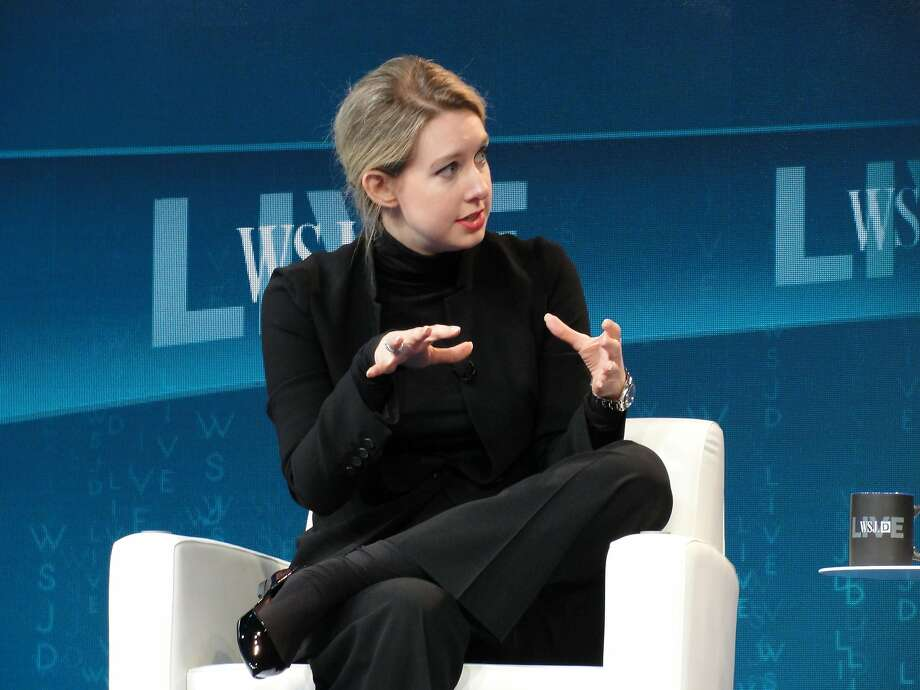 This file photo taken on Oct. 21, 2015, shows  Theranos chief executive Elizabeth Holmes speaking at a Wall Street Journal technology conference in Laguna Beach, Calif.  Photo: GLENN CHAPMAN, AFP/Getty Images