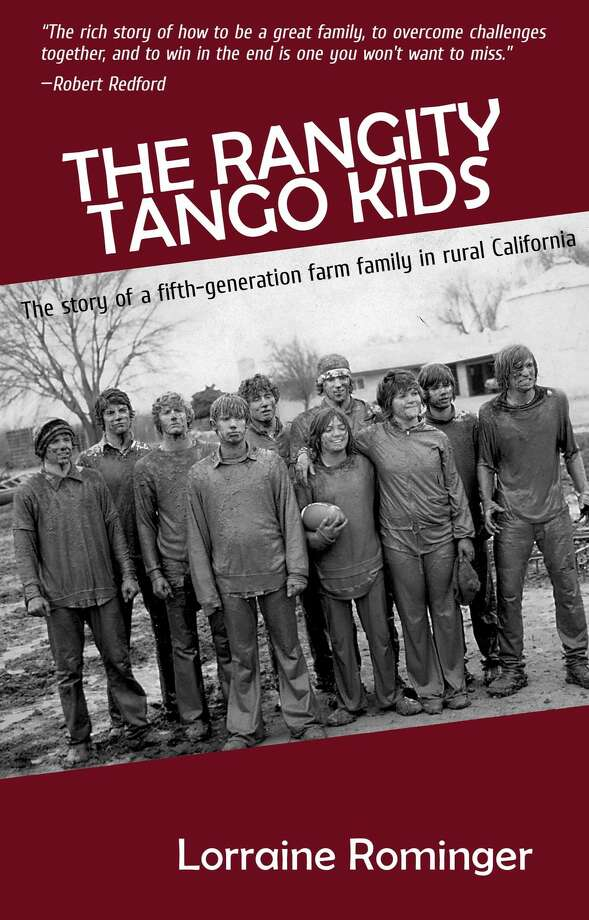 Rominger's book cover depicts the Mud Bowl, a holiday tradition on the farm with her extended family.