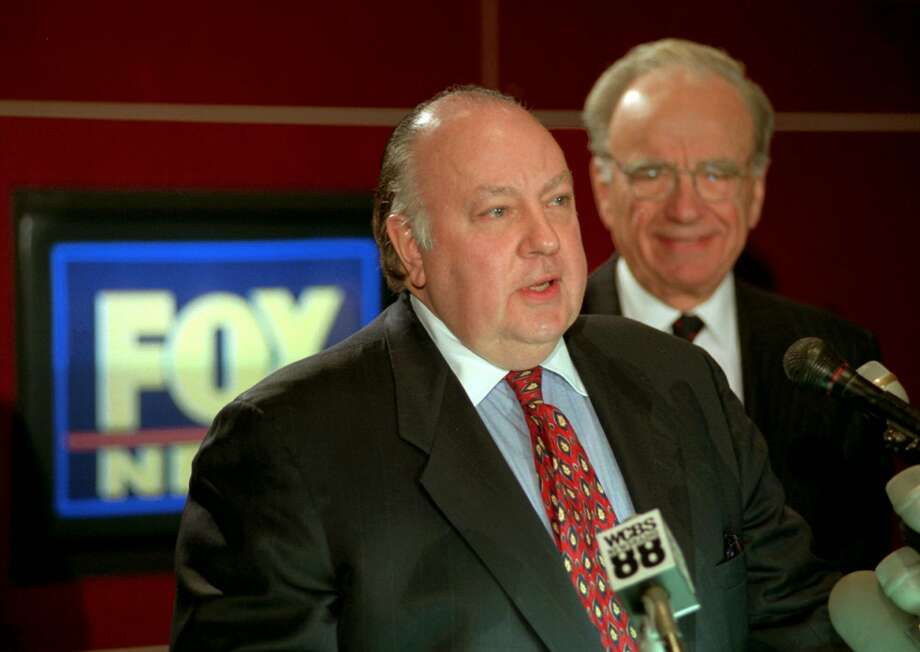 "21st Century Fox Inc. executives vowed to keep the ""unique and important voice"" of No. 1-rated Fox News following the resignation of co-founder Roger Ailes (left) last month. The network, now led by Rupert Murdoch (right) on an interim basis, is having its best year ever, they said. Photo: RICHARD DREW /Associated Press / AP1996"