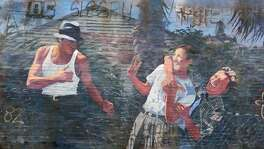 """A mural by San Antonio artist Adan Hernandez, made famous by the 1993 film, """"Blood In, Blood Out,"""" a movie has become something of a cult favorite. Hernandez did the art work for the film."""