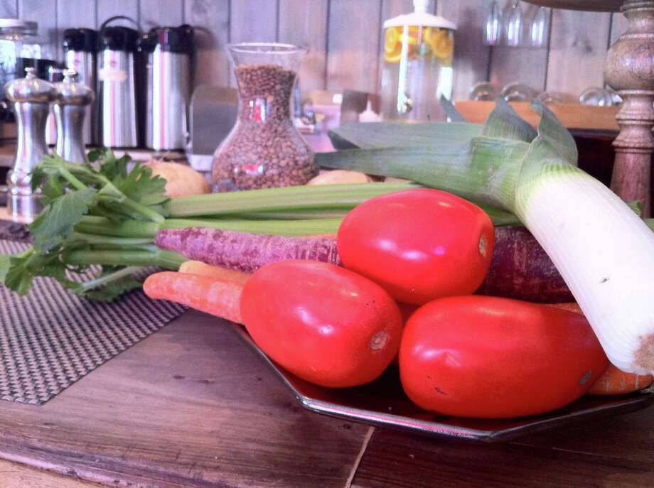 Fresh ingredients wait to be diced, soaked and cut up on a recent morning for the popular lentil soup served at Baldanza Natural Market Cafe in New Canaan. Lentils are part of a group of crops known as pulses, or the dried seeds of certain legumes. The United Nations is pushing for more pulse consumption and has named 2016 the Year of the Pulse. Photo: Christina Hennessy / Connecticut Hearst Media / Connecticut Hearst Media