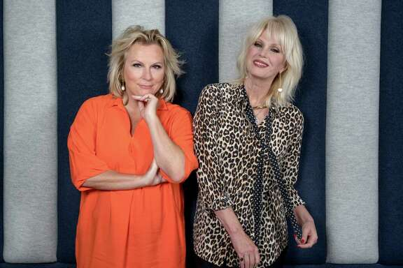 "-- PHOTO MOVED IN ADVANCE AND NOT FOR USE - ONLINE OR IN PRINT - BEFORE JULY 17, 2016. -- Jennifer Saunders, left, and Joanna Lumley of ""Absolutely Fabulous,"" in London, June 26, 2016. The duo's characters Edina and Patsy (and their friends, Champagne and vodka) invade American cinemas with ""Absolutely Fabulous: The Movie,"" opening July 22. (Andrew Testa/The New York Times)"