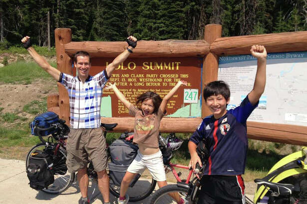 """Perceived Limits,"" a film about the international bicycle adventures of Charles Scott and his two children, won the Grand Jury Prize at the Ciclismo Bike Travel Film Festival that recently expanded from its Massachusetts home base to the Palace Theatre in Danbury."