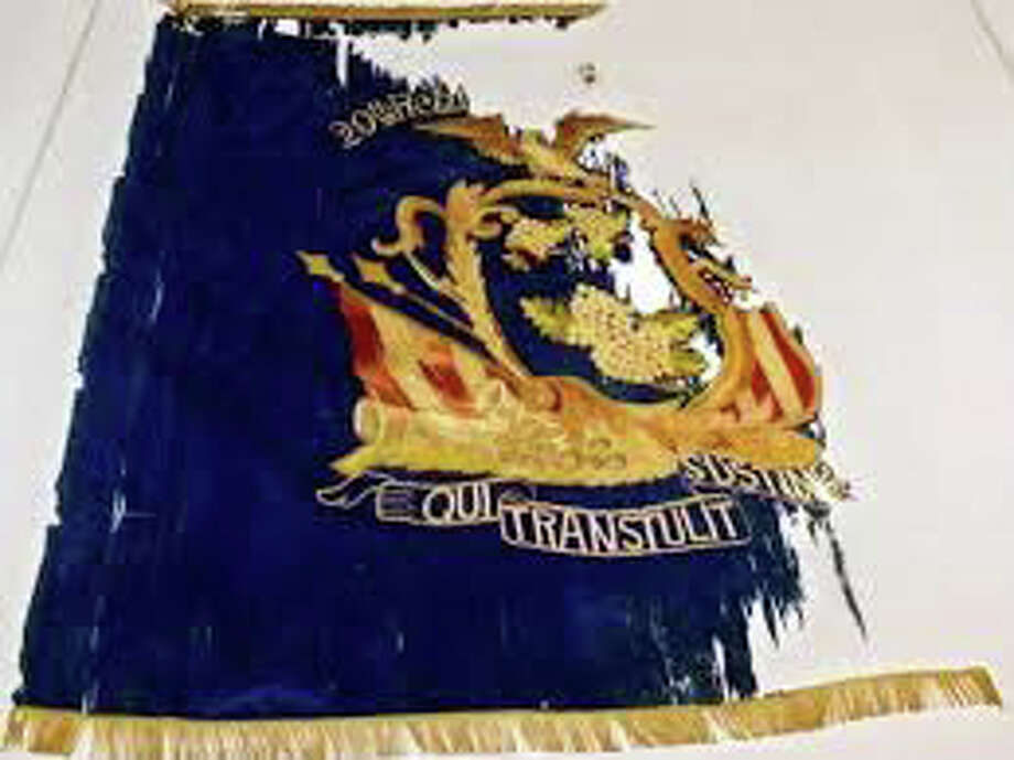 The battle flag of the 29th Regiment. Photo: Contributed Photo / Stamford Advocate  contributed