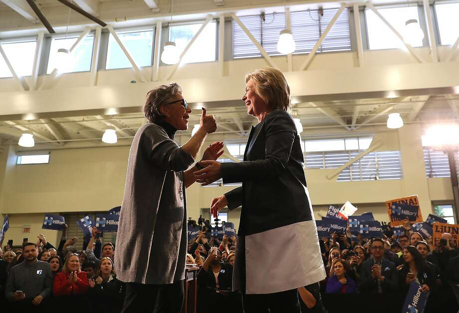 Sen. Barbara Boxer, D-Calif., rallies for Hillary Clinton in May in Oakland. Boxer may give a prime-time speech at the Democratic National Convention. Photo: Justin Sullivan