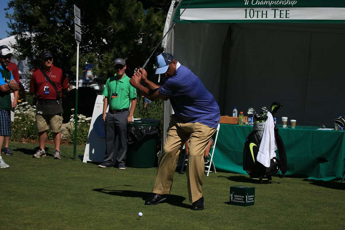 Charles Barkley plays at the Tahoe Celebrity Golf Tournament July 22, 2016
