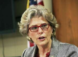 Former Bexar County Sheriff Susan Pamerleau discusses the county jail with the press on July 22, 2016.
