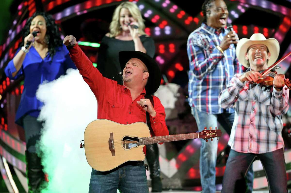 Garth Brooks is shown performing July 22, 2016 at AT&T Center. Tonight, Brooks is performing at Gruene Hall.