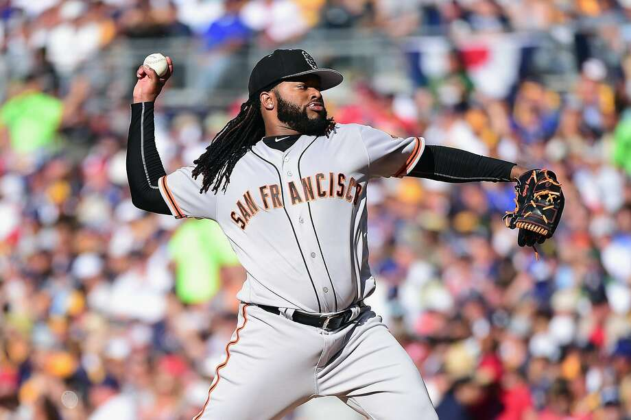 SAN DIEGO, CA - JULY 12:  Johnny Cueto #47 of the San Francisco Giants throws a pitch during the 87th Annual MLB All-Star Game at PETCO Park on July 12, 2016 in San Diego, California.  (Photo by Harry How/Getty Images) Photo: Harry How, Getty Images