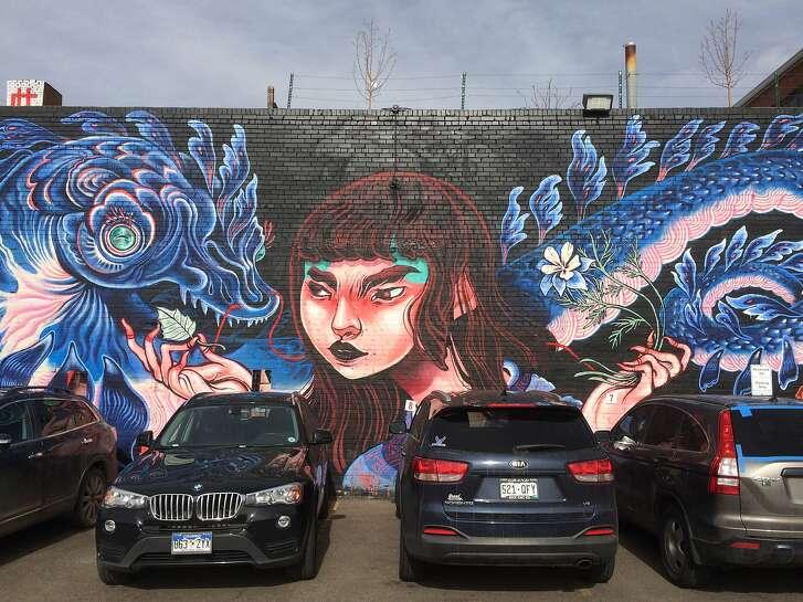Street art in Denver's RiNo Arts District.