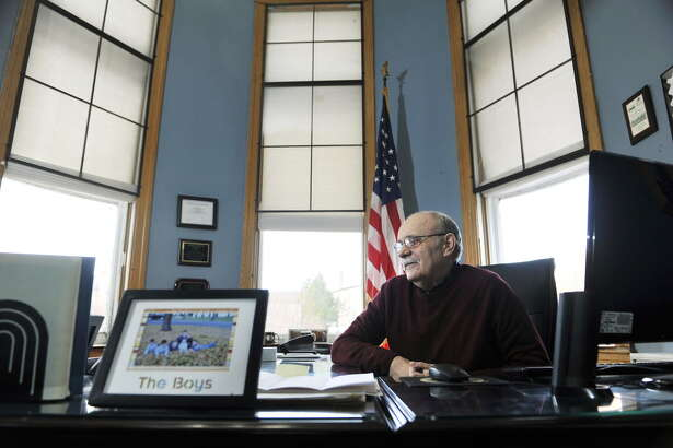 Cohoes Mayor George Primeau talks about his 16 years in city government, including three as mayor, during an interview on Monday, Dec. 28, 2015, in Cohoes, N.Y. (Paul Buckowski / Times Union)