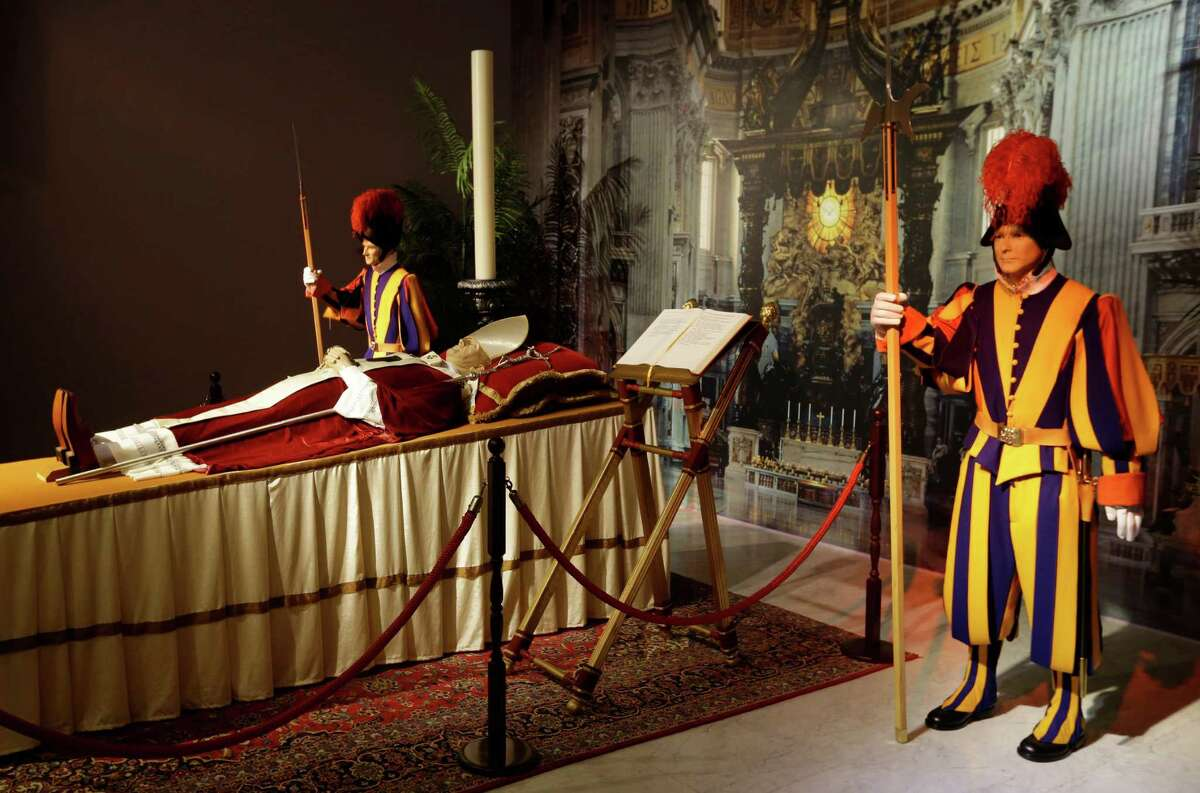 Authentic uniforms of the Swiss Guard are part of the