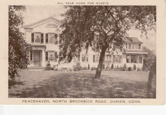 This postcard, provided by Richard Casey, shows Peacehaven after it was moved to Appletree Lane in the early 1920s.  Click here to check out more postcards from Darien's past. Photo: Contributed Photo / Darien News