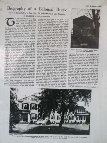 "The first page of a two-age article about the home on appletree Lane which ran in the March 1924 issue of ""Arts & Decoration"" Magazine. Photo: Contributed Photo / Darien News"