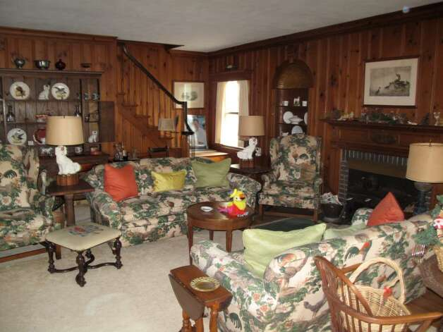 This second living room was added onto the house in about 1936, according to Elizabeth Lane. Her family then built another addition above this, in order to create extra bedrooms for her eight children. Photo: Maggie Gordon / Darien News