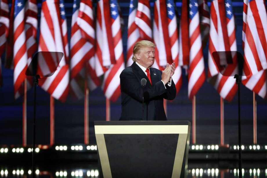 "Donald Trump capped off last week's Republican National Convention by accepting the party's nomination for president on Thursday at Quicken Loans Arena in Cleveland. ""He's a tough guy,"" one Republican loyalist says of Trump. Photo: DOUG MILLS, STF / NYTNS"