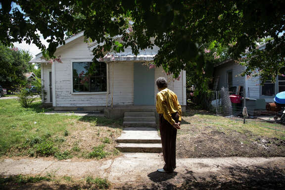 Nathaniel Word stands outside of his childhood home in San Antonio, Texas on July 1, 2016.  He was acquitted in the murder of Anthony Coronado, an event which occurred in the front yard of Word's home.  Word no longer considers it a safe place to live.