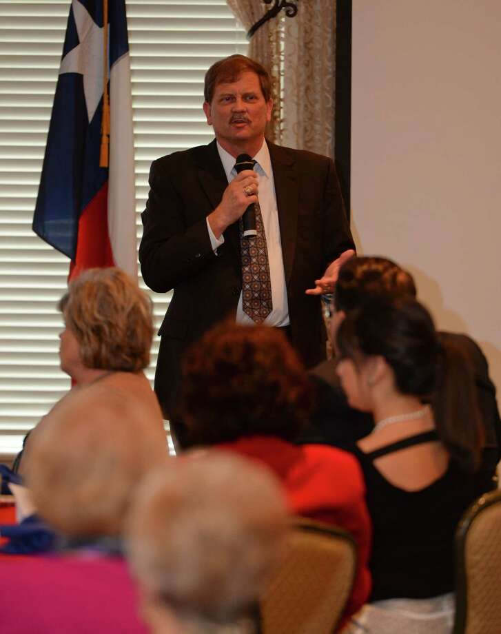 Texas GOP Chairman Tom Mechler speaks Wednesday 03-09-16 at the Midland County Republican Women's luncheon. Tim Fischer\Reporter-Telegram
