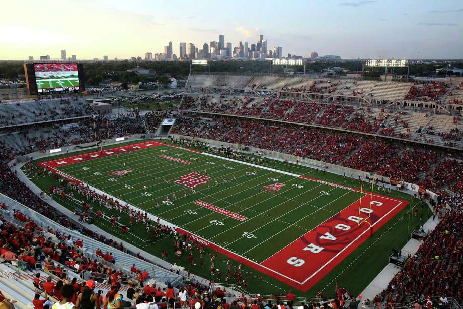 The Cougars football team is on the rise, with sales of season tickets for games at TDECU Stadium at 21,000 and increasing. The Cougars open at home against Oklahoma, a member of the Big 12, on Sept. 3. Photo: Thomas B. Shea, Freelance / © 2014 Thomas B. Shea