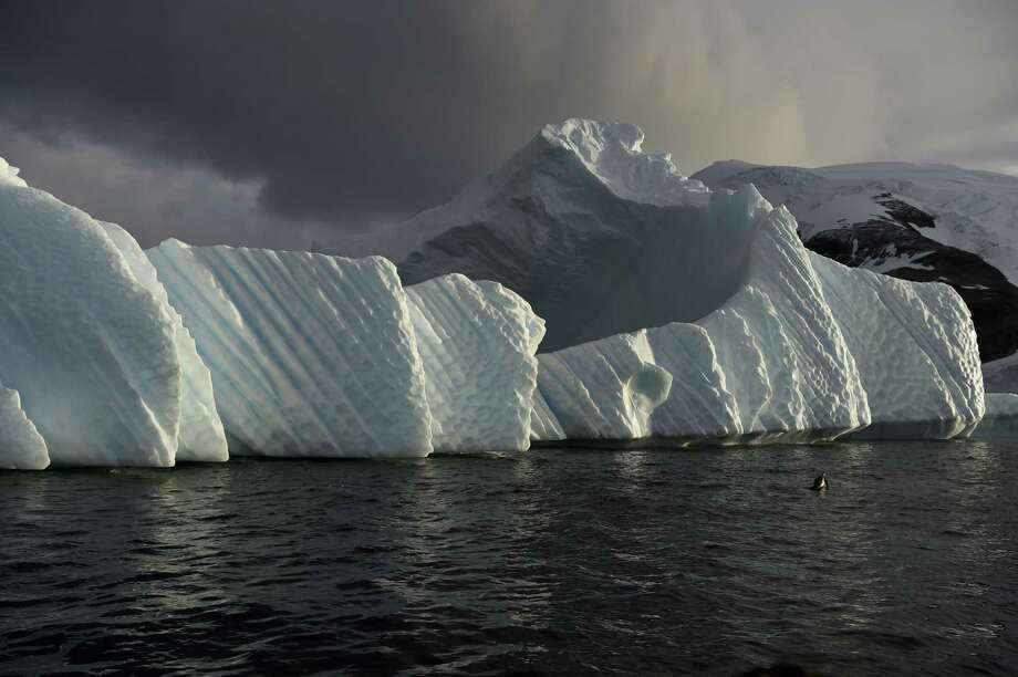An iceberg is pictured in the western Antarctic peninsula in March. Scientists say that the region, in a surprise development, has been cooling in recent years. However, they caution that it is unlikely that it is an indicator of a major reversal of global warming. Photo: EITAN ABRAMOVICH, Staff / This content is subject to copyright.