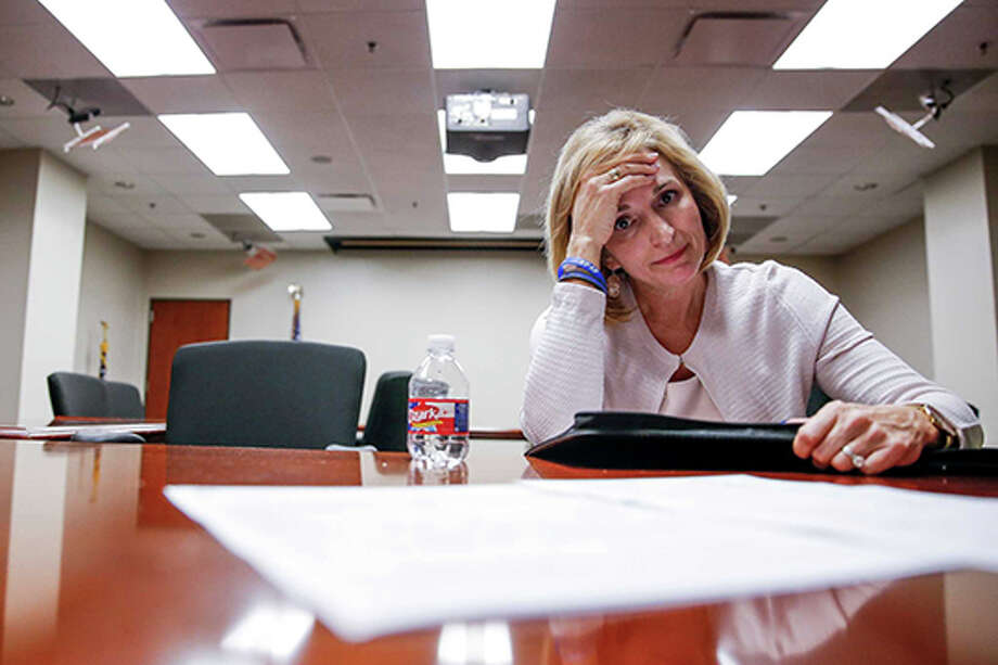 """""""I don't want people to think that this is what we do to victims,"""" Harris County District Attorney Devon Anderson said. """"It's just not."""" Photo: Michael Ciaglo, Staff / © 2016  Houston Chronicle"""