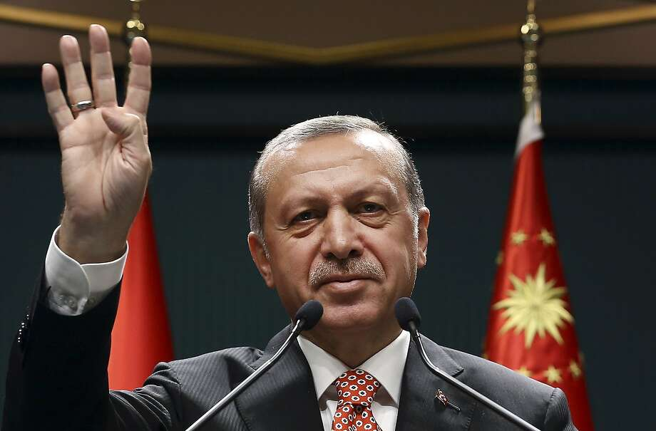 President Recep Tayyip Erdogan has criticized concerns that the crackdown jeopardizes freedoms. Photo: STF, Associated Press