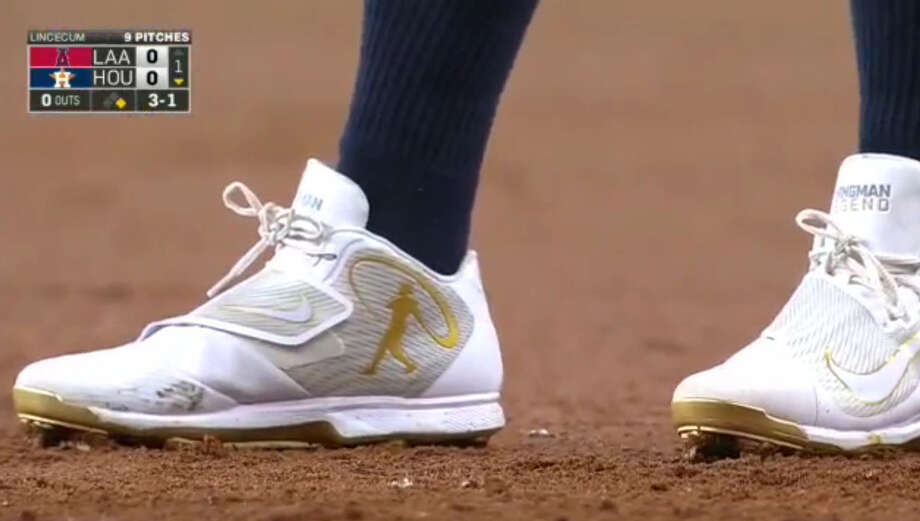 finest selection 3417a 704d7 Players around the league wore special Nike cleats Sunday to honor Ken  Griffey Jr.,