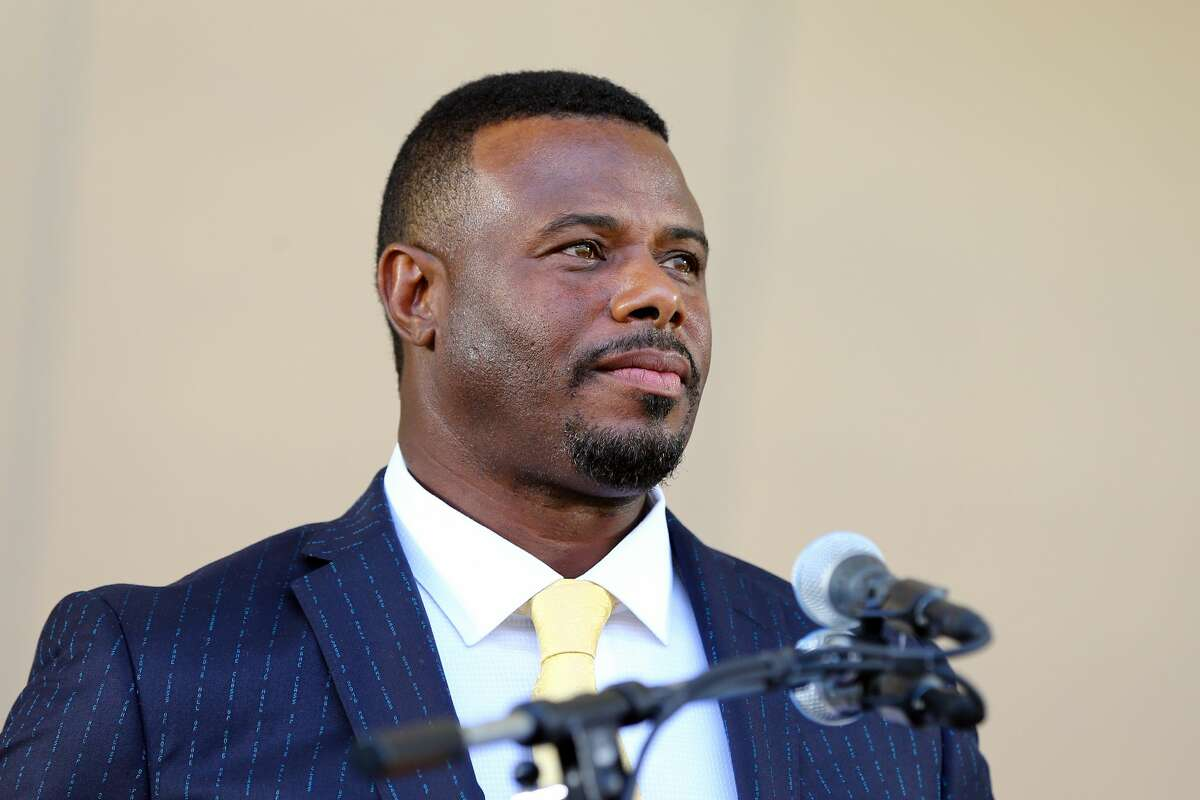 Inductee Ken Griffey Jr. speaks during the 2016 Hall of Fame Induction Ceremony at the National Baseball Hall of Fame on Sunday July 24, 2016 in Cooperstown, New York.