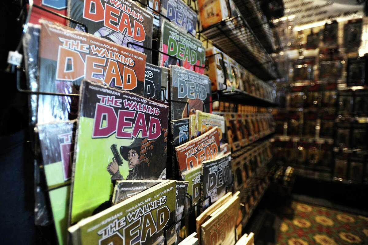 The first ever Lock City Comic Con held at the Italian Center of Stamford, on Newfield Avenue, had dozens of booths that ranged from specifically themed booths, like The Walking Dead, to comic books to artwork. Photographed on Sunday, July 24, 2016.