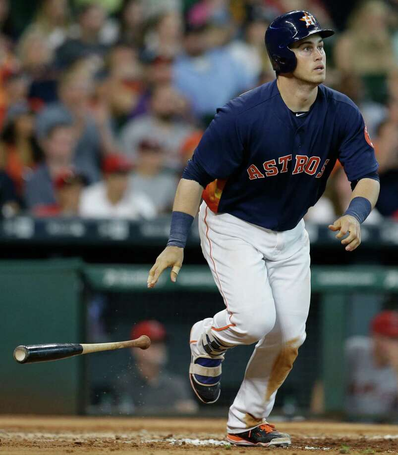 Houston Astros Preston Tucker hits a home run against the Los Angeles Angels during the fifth inning at Minute Maid Park Sunday, July 24, 2016, in Houston. Photo: Melissa Phillip, Houston Chronicle / © 2016 Houston Chronicle