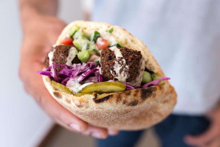 Falafel pita sandwhich at Sababa in S.F.