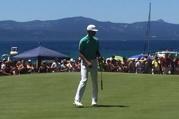Stephen Curry golfed with Justin Timberlake at the American Century Championship in Stateline, Nev., July 24, 2016.