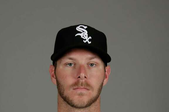 This is a 2016 photo of Chris Sale of the Chicago White Sox baseball team. This image reflects the White Sox active roster as of Saturday, Feb. 27, 2016, when this image was taken. (AP Photo/Matt York)