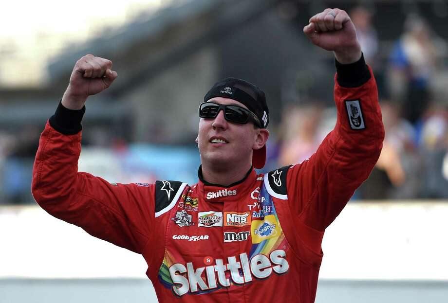 Kyle Busch is riding high after becoming the first driver to sweep the four poles and races in the same weekend at Indianapolis. Photo: Bobby Ellis, Stringer / 2016 Getty Images