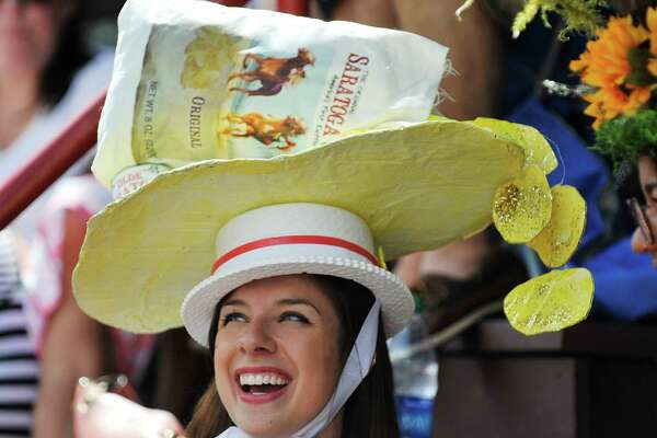 Annie Mills of Cobleskill took third place in the Uniquely Saratoga category at the 25th Annual Hats off to Saratoga hat contest at the Saratoga Race Course on Sunday, July 24, 2016, in Saratoga Springs, N.Y.  (Paul Buckowski / Times Union)