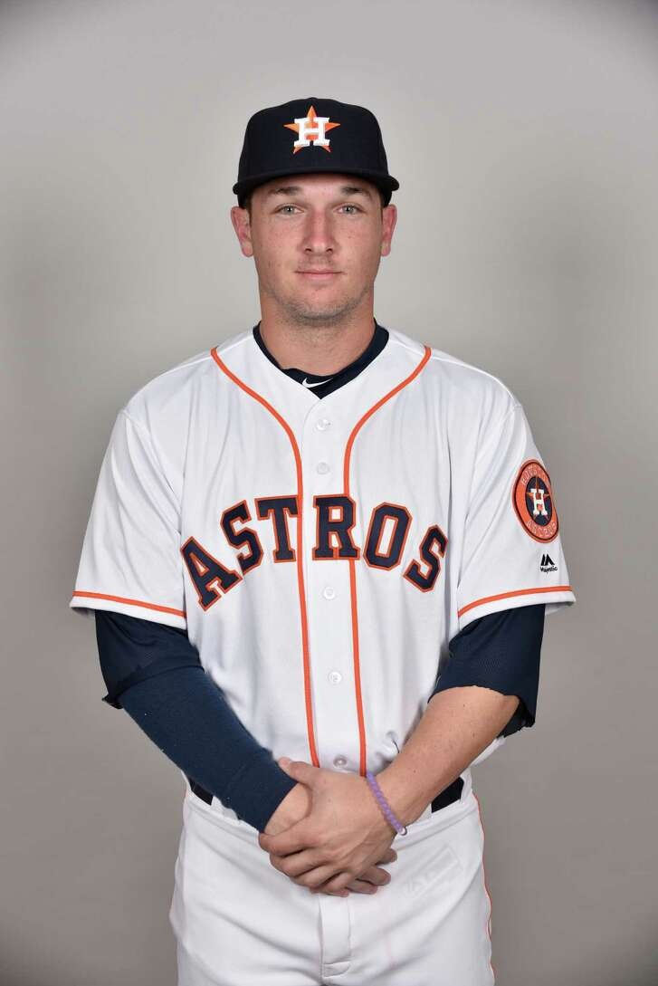 KISSIMMEE, FL - FEBRUARY 24:  Alex Bregman #82 of the Houston Astros poses during Photo Day on Wednesday, February 24, 2016 at Osceola County Stadium at Osceola Heritage Park in Kissimmee, Florida.  (Photo by Tony Firriolo/MLB Photos via Getty Images)