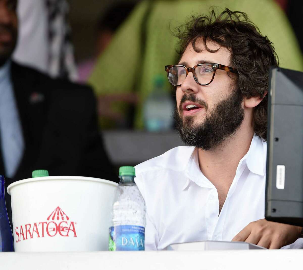 Entertainer Josh Groban enjoys a beautiful day Sunday July 24 2016 at the Saratoga Race Course in Saratoga Springs, N.Y. Groban will appear at SPAC tomorrow night. Click through the slideshow to see some of the rich and famous who have been spotted in Saratoga through the years.