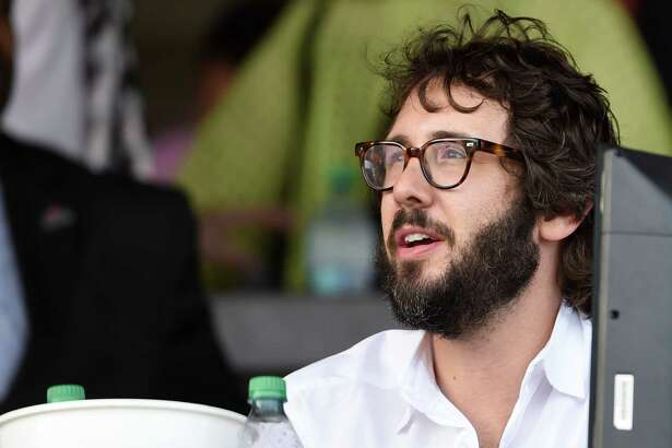 Entertainer Josh Groban enjoys a beautiful day Sunday July 24 2016 at the Saratoga Race Course in Saratoga Springs, N.Y. Groban will appear at SPAC tomorrow night.  (Skip Dickstein/Times Union)