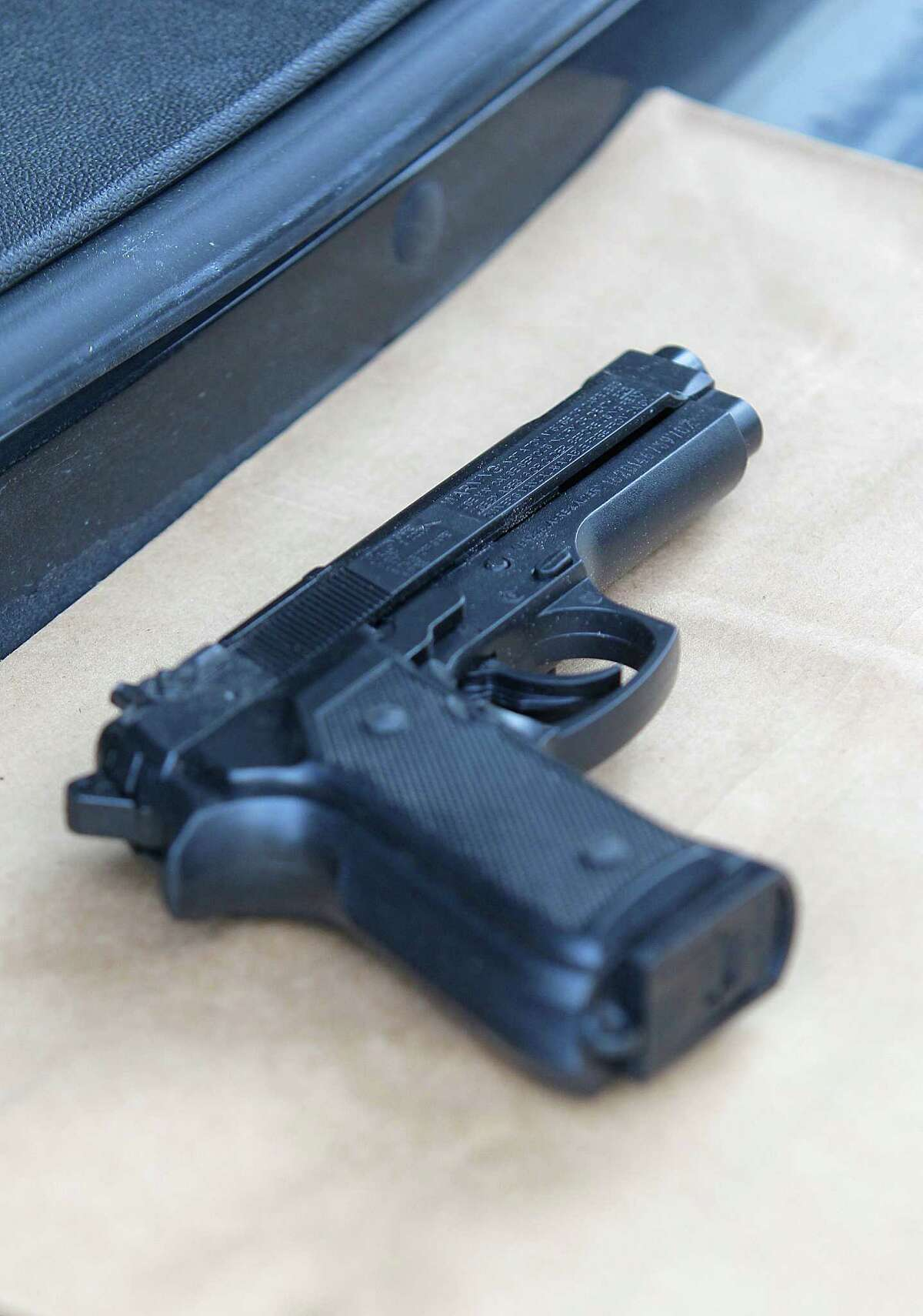 Police who shot and wounded a man say he had in his waistband a pellet gun that looked like a handgun, Sunday, July 24, 2016.