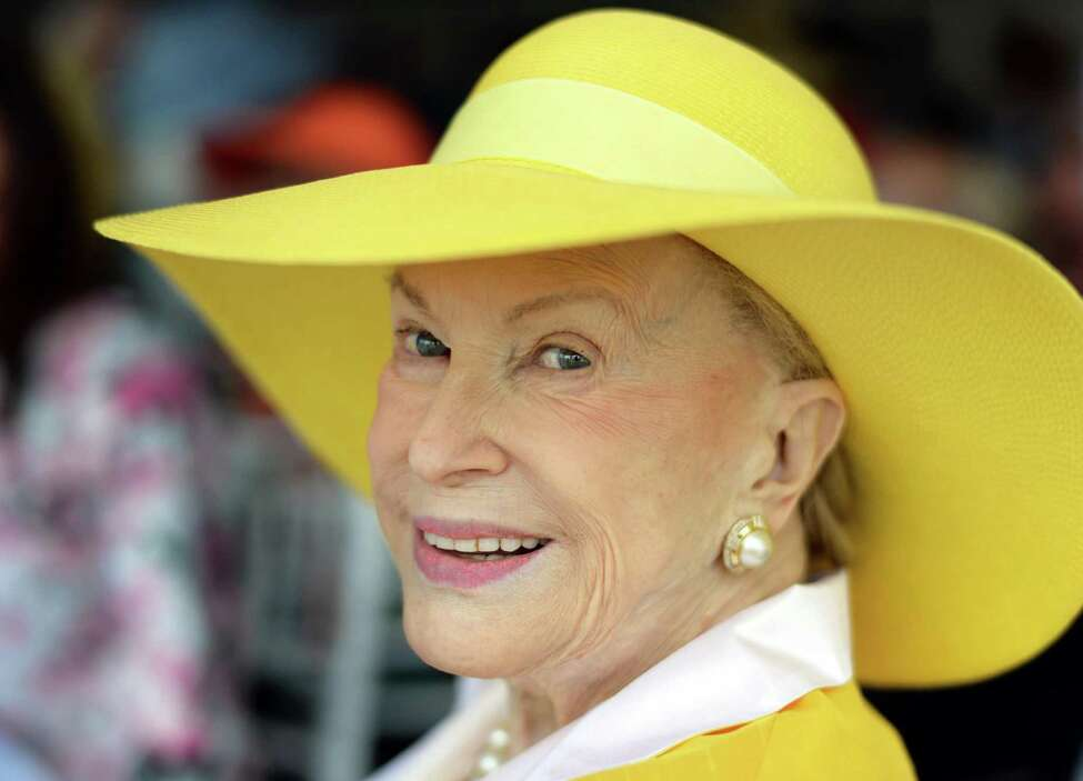 Marylou Whitney at her annual opening day luncheon at Saratoga Race Course Friday July 24, 2015 in Saratoga Springs, NY. (John Carl D'Annibale / Times Union)