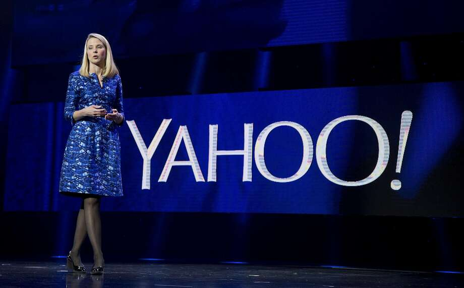 FILE - In this Jan. 7, 2014, file photo, Yahoo president and CEO Marissa Mayer speaks during the International Consumer Electronics Show in Las Vegas. Yahoo reports financial earnings on Tuesday, Feb. 2, 2016. (AP Photo/Julie Jacobson, File) Photo: Julie Jacobson, Associated Press