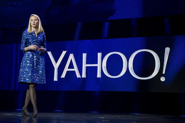 FILE - In this Jan. 7, 2014, file photo, Yahoo president and CEO Marissa Mayer speaks during the International Consumer Electronics Show in Las Vegas. Yahoo reports financial earnings on Tuesday, Feb. 2, 2016. (AP Photo/Julie Jacobson, File)