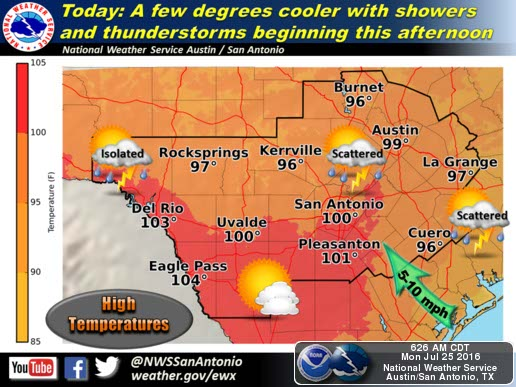 Rain Returns To Forecast For San Antonio This Week High