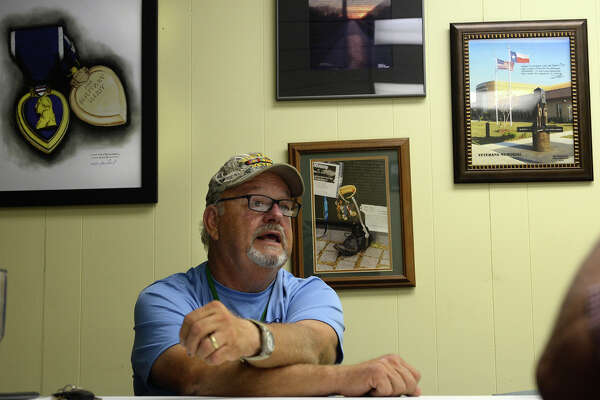 Ray Hardy, who works with incarcerated veterans, talk about the Veterans Treatment Court that Jefferson County is looking to create for honorably discharged veterans. Hardy served in the U.S. Army for four years. Photo taken Thursday, July 21, 2106 Guiseppe Barranco/The Enterprise