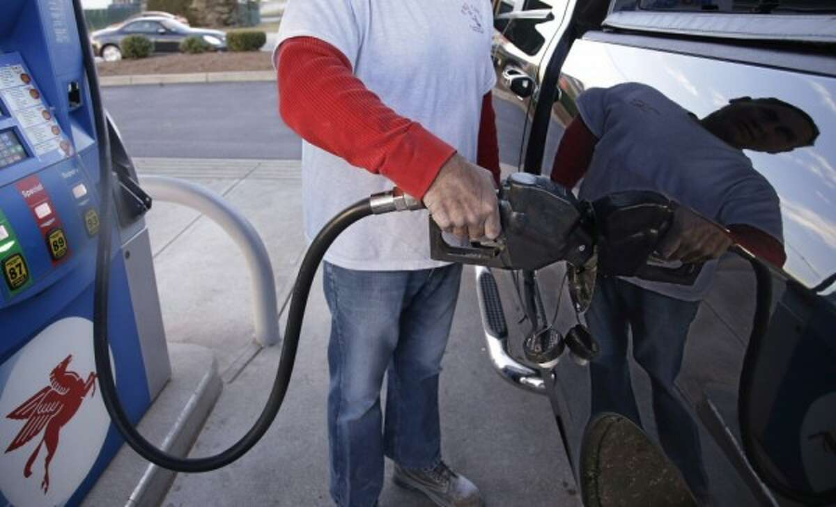 Gasoline prices were unchanged in Houston, but rose nationally.